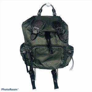 Burberry Rucksack Large Backpack Green Nylon Bag